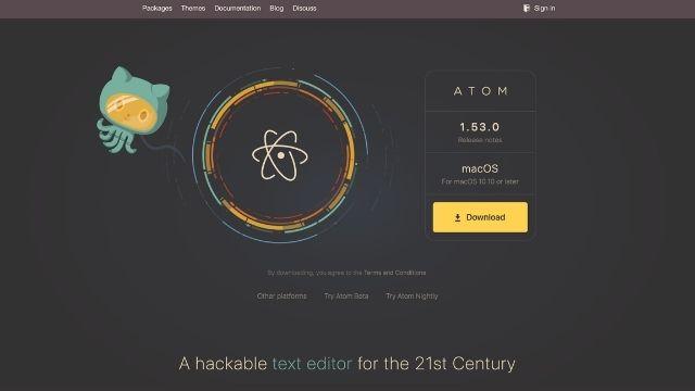 Macユーザー向け:Atom