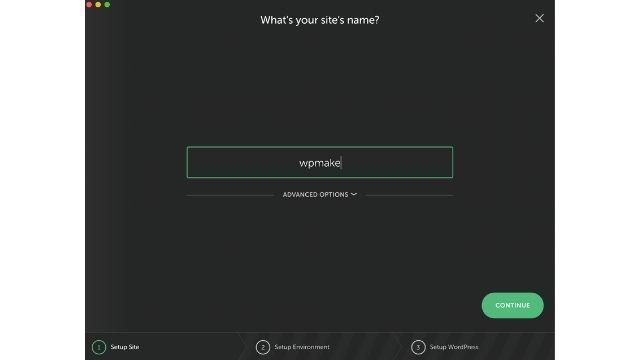 WordPressの環境構築5:name作成