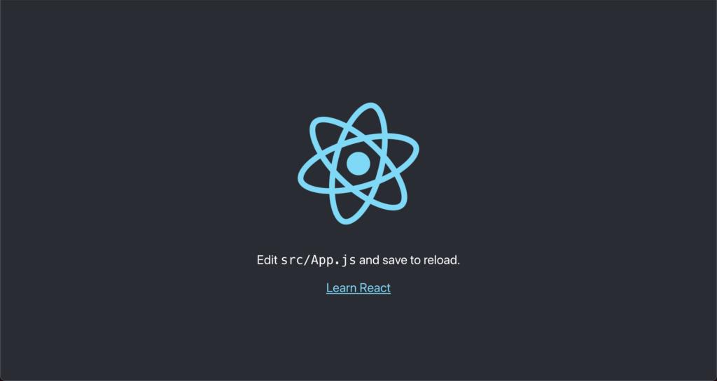 reactの環境構築完了