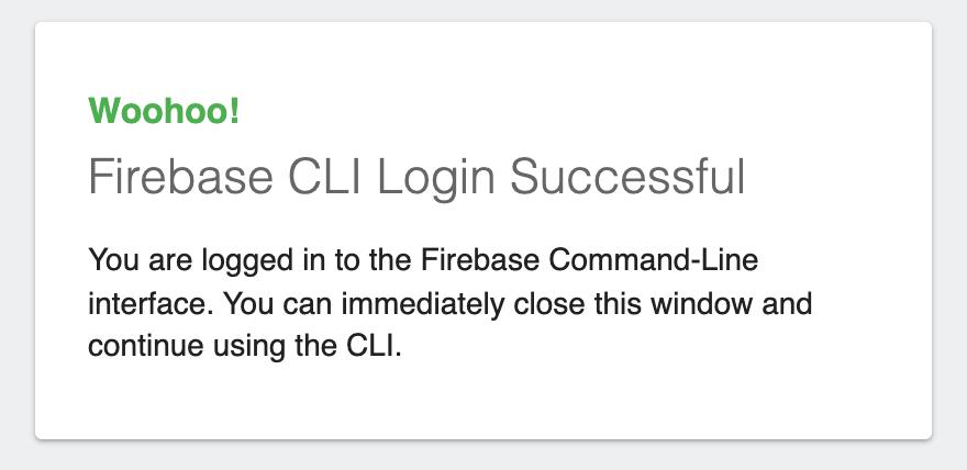 Hostingのためにターミナルからfirebaseの初期化